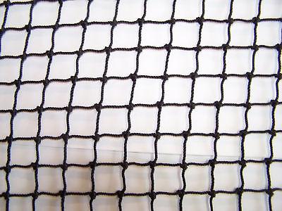 35 ' X 9' Golf Impact Black Square Nylon Top Rope Border Netting 3/4 18