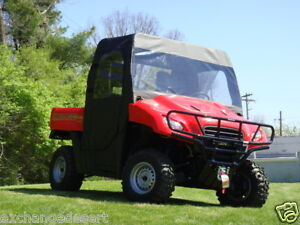 FULL-CAB-Enclosure-w-Clear-Lexan-Windshield-Honda-BIG-RED-New-UTV