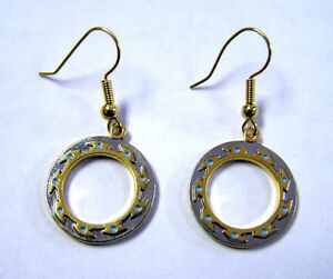 Xena-Chakram-Earrings-Jerelry-3-4-Gold-Plated-Beautiful-FREE-S-H