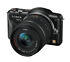 Panasonic Lumix DMC-GF3W 12.1 MP Digital Camera - Black (Kit w/ ASPH 14mm and VARIO G ASPH 14-42mm Lenses)