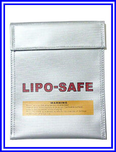 Safe Lipo Battery Bag Fireproof Charging Sack 18x22cm