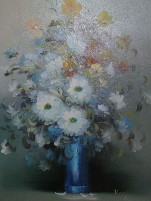 "Oil Painting 26"" X 38"" Large Reseller Floral & Gardens Impressionism Signed"