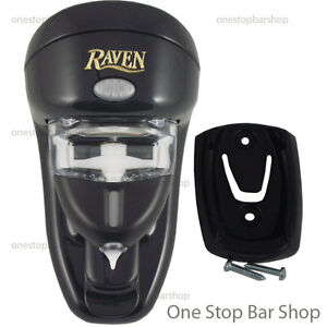 Raven-Spirit-Liqueur-Dispenser-15ml-Black-Wall-Mount