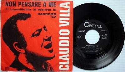 Claudio Villa 45 Non Pensare A Me Italy  W  Pic Slv