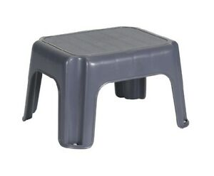 RUBBERMAID-2753-00-SMALL-STEP-STOOL-CYLINDER-GRAY-NEW