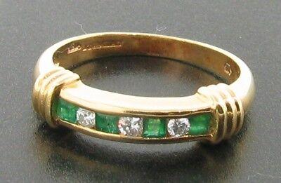 18ct Emerald Diamond Eternity Ring £425