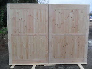 Wooden garage workshop barn doors up to 7 ft high x 10 ft for 10 foot high garage door