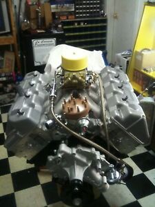 CUSTOM-BUILT-BOSS-429-FORD-ENGINE-460CI-600HP-WITH-KAASE-CYLINDER-HEADS