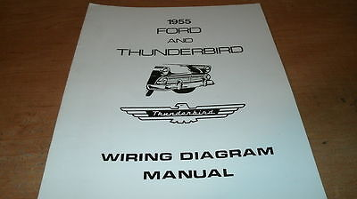1955 Ford Thunderbird Wiring Diagrams Schematics Manual