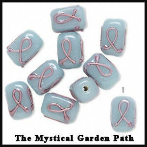 10-Pink-Ribbon-Breast-Cancer-Awareness-Glass-Rct-Bead-B