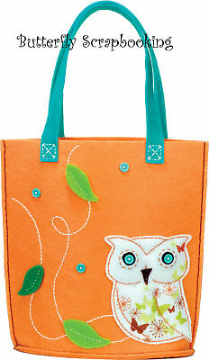Owl Tote Feltworks Fun Embroidery Kit By Dimensions
