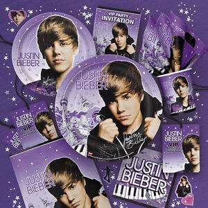 Justin-Bieber-Birthday-Party-Supplies-Lot-Set-New-NIP