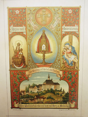 Andechs – Farbige Lithographie – ca. 1890