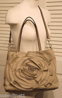 NWT VALENTINO Sand Petale Rosette Logo Crossbody Shoulder Tote Bag Free Shipping