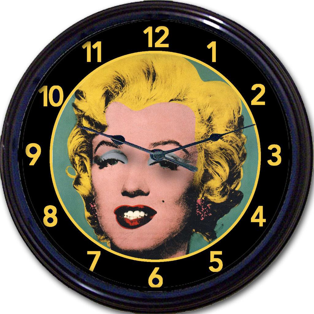 Marilyn Monroe Andy Warhol Style Retro Art Portrait Wall Clock 10