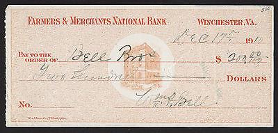 Farmers   Merchants National Bank  Winchester  Va  1910