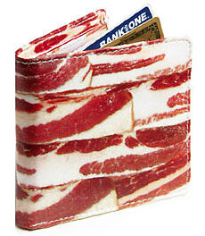Deluxe-Bacon-Wallet-4-Bifold-Wallet-Novely-Gift-New