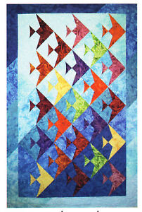 Far-Flung-Quilts-UP-a-LAZY-RIVER-Fat-Quarter-Quilt-Pattern-Fish-Pattern-Sale