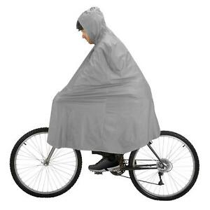 PVC-Waterproof-Cycle-Cape-Poncho-Grey