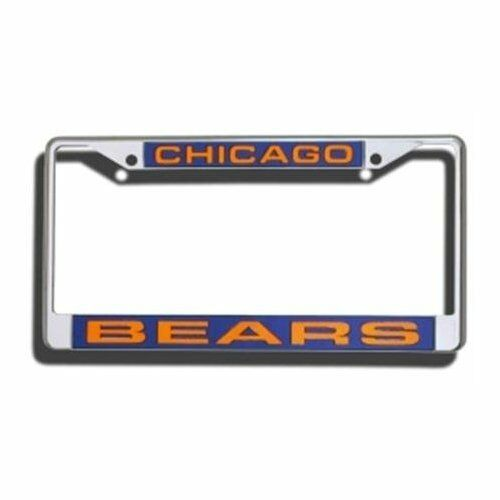 Chicago Bears Car Auto Laser Cut Chrome License Plate Frame NFL Football