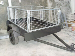 6X4 Trailer All Steel + Galvanised Cage