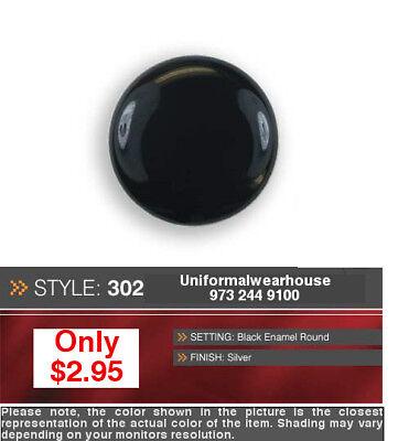 BLACK SILVER Tuxedo Button Cover BASIC Enhancer NEW #302S