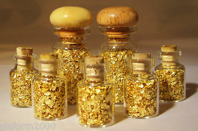 Pot of Gold - Pure 24k Gold Flakes **Finest Grade** 2ml
