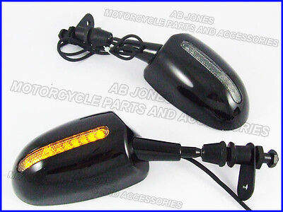 Mirrors with LED indicators CBR ZX GSX BUSA SV YZF 245