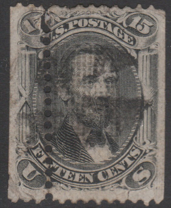#98 Used 15¢ Lincoln Misperf Bl5708