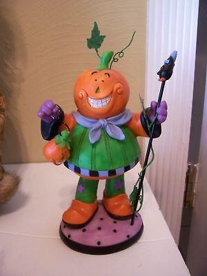 Pumpkin Man Trick Or Treat Figurine Halloween Decoratio