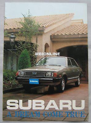 1980 Subaru range Brochure Pub.No. 76T.80.2.E