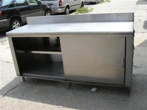 Stainless-Steel-Cabinet-Work-Top-Table-Used