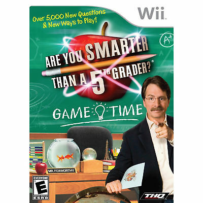 Are You Smarter Than A 5th Grader Game Time Wii