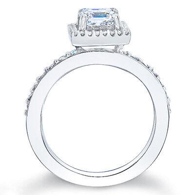 2.76ct Asscher Cut Diamond Engagement Ring GIA G/VS1  2