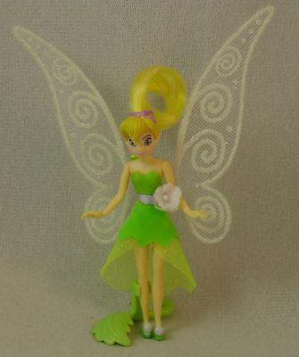 "Tinker Bell Fluttering Pixie-dusted Wings 5"" Plastic Figurine Disney Peter Pan"