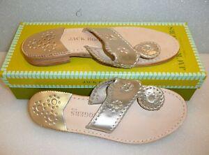 Jack-Rogers-Navajo-platinum-sandals-SZ-6-7-8-9-10-NIB