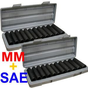 24pcs-1-2-Deep-Impact-Socket-Set-SAE-MM-Mould-Case-22-sized-3-8-7-16-1-2