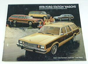 1978 78 FORD STATION WAGON BROCHURE LTD Pinto Club