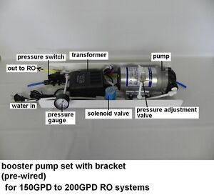 Assembly 150 200gpd ro reverse osmosis system up pressure use ebay