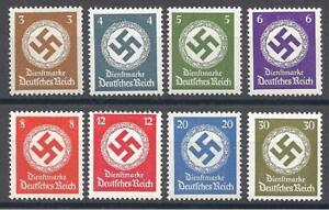 Nazi Germany WWII, Set of 8 Large Swastika Stamps *Mint* *Super Nice Sets*
