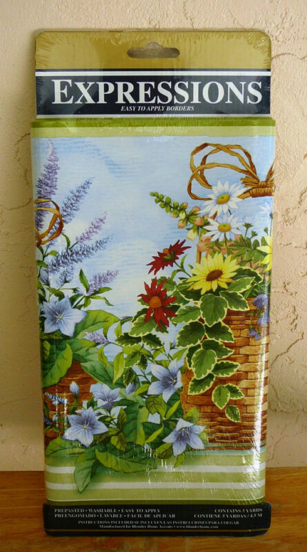 EXPRESSIONS WALL BORDER~Meadow~Floral~Washable~NEW~FREE SHIP