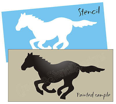 Primitive Horse Stencil Running Wild Mustang Pony Cowboy Western Rodeo Trail Art