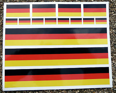 Road Bike Cycle German Flag Frame Stickers