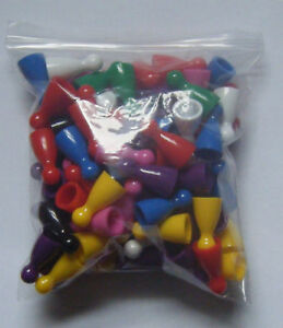 100-Halma-Pawns-Plastic-Board-Games-Pieces-NEW