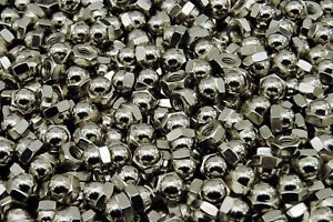 25-Nickel-Chrome-Plated-5-16-18-Acorn-Hex-Cap-Nuts