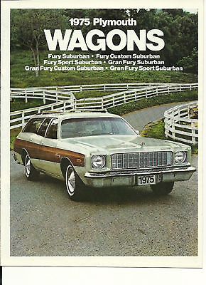 1975 Plymouth Station Wagon Brochure / Catalog: Fury,gran,custom,wagons