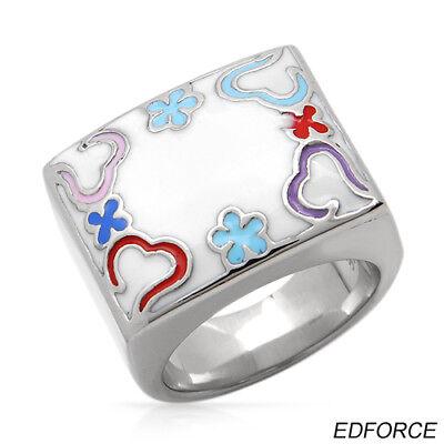 Edforce Ring Multicolor Enamel Stainless Steel $85