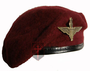 Large Repro Maroon Parachute Regiment Beret + Cap Badge