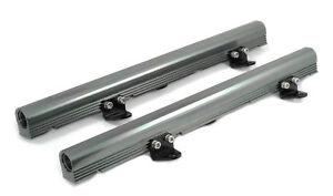 GM-CHEVY-BILLET-ALUMINUM-LS1-LS6-INTAKE-FUEL-RAILS-KIT-GUN-METAL-SILVER