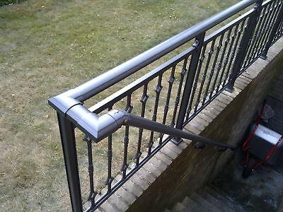 2 m Handlauf aus Aluminium für Geländer, Balkone pulverbeschichtet in anthrazit